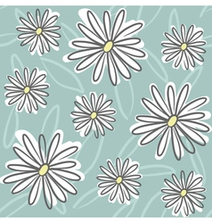 seamless doodle floral vector image vector image