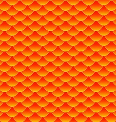 Seamless small goldfish or koi fish scale pattern vector image
