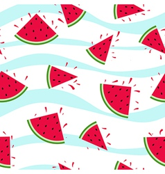 Seamless watermelon pattern splash vector image vector image