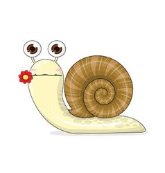 snail cartoon cute vector image