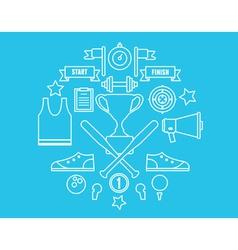 Sport symbols in circle vector image vector image