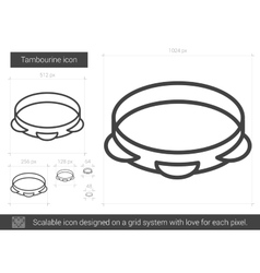 Tambourine line icon vector
