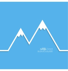 The mountains with snowy peaks vector