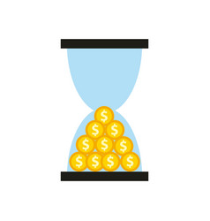 Time is money concept icon vector