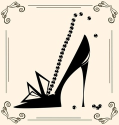 vintage womans shoe vector image