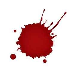 Realistic blood splatters vector
