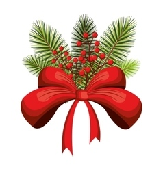 Christmas season floral decoration vector