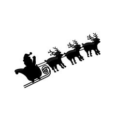 Santa and deer in sleigh vector
