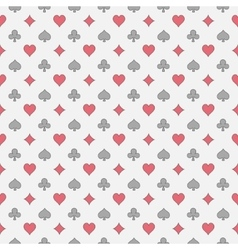 Colorful card suits pattern vector