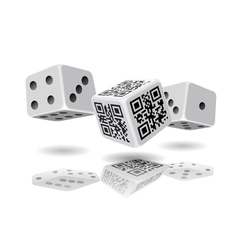 Casino cubes and qr code cube vector
