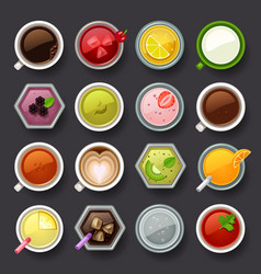 drink icon set vector image