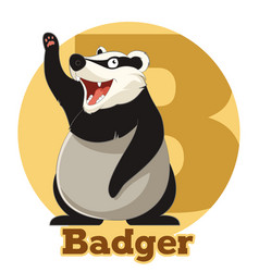 Abc cartoon badger vector