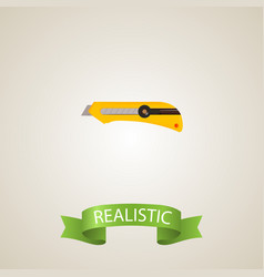 realistic cutter element of vector image