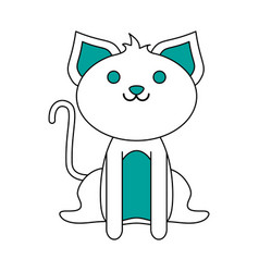 Smiling pet cat vector