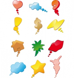 conceptual bubbley conversation vector image