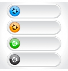 Web page buttons vector