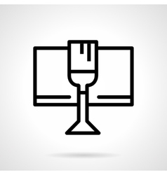 Celebratory drink black simple line icon vector