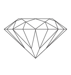 Black and white diamond vector