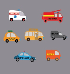 Set car style flat vector