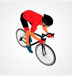 Athlete bike cyclist vector