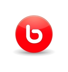 Bebo icon in simple style vector image