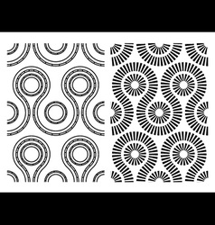 black white seamless abstract pattern vector image vector image