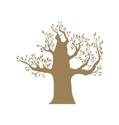Brown big tree vector