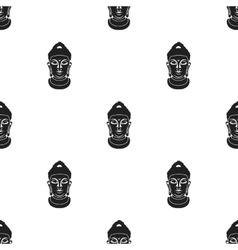 Buddha icon in black style isolated on white vector image