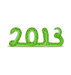 cartoon snake vector image