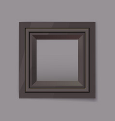 Dark chrom metal frame blank vector