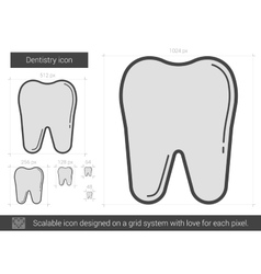 Dentistry line icon vector
