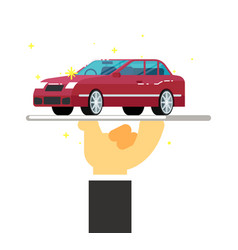 Express rent car service conceptual icon vector