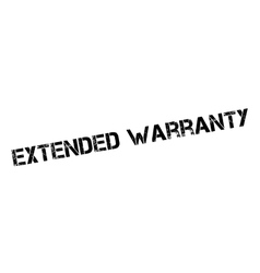 Extended warranty rubber stamp vector