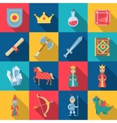 Fairytale game set vector