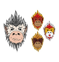 Fire monkey 2016 vector image vector image