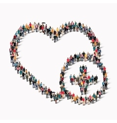 group people form heart love vector image vector image