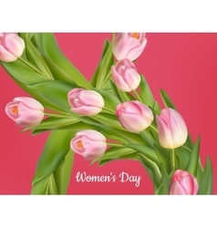 Happy Women s Day card EPS 10 vector image