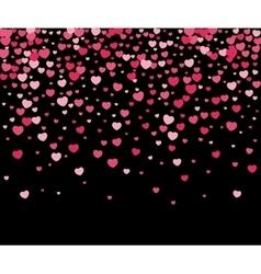 Hearts confetti vector image vector image