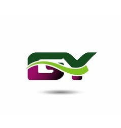 Letter G and Y monogram logo vector image
