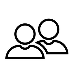 line partnership icon vector image vector image