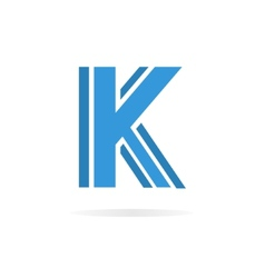 Logo K letter for company design template vector image