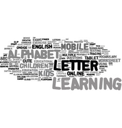 m-learning word cloud concept vector image vector image