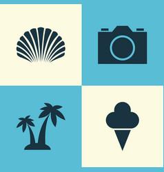 Season icons set collection of sorbet conch vector
