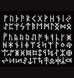 Silver runic script vector