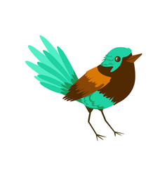 small bright tropical bird colorful vector image vector image