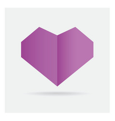 valentine love gay purple heart paper craft in vector image vector image