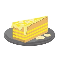 Cheesecake slice icon vector