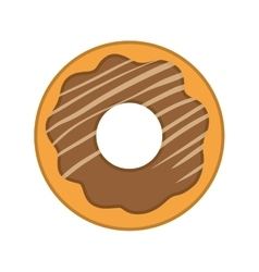 Donut dessert cute sweet icon graphic vector