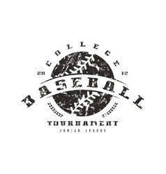 Emblem of baseball tournament graphic design for vector