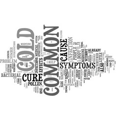The common cold can t live with it can t live vector